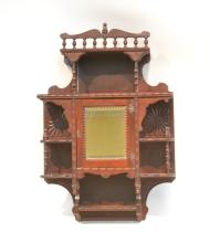 VICTORIAN CARVED MAHOGANY WALL CABINET