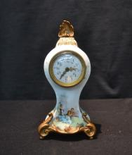 HAND PAINTED SEVRES STYLE CABINET CLOCK