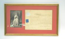 VICTORIAN DOCUMENT OF MAJOR IN ARMY WITH