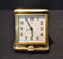 TIFFANY & Co. STERLING TRAVEL ALARM CLOCK WITH