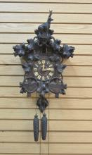 BLACK FOREST CUCKOO CLOCK WITH CARVED DEER