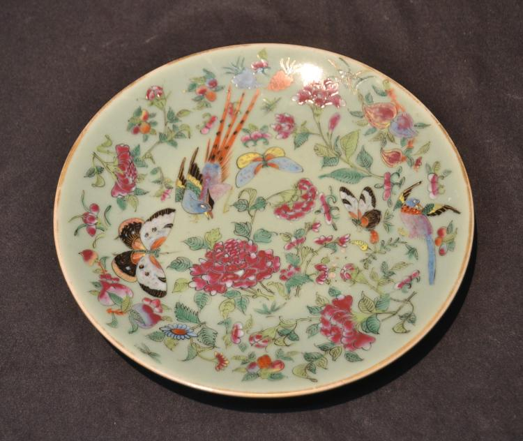 CHINESE PORCELAIN DISH WITH BUTTERFLY & BIRDS -10