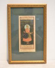 HAND PAINTED PERSIAN PAGE DEPICTING MAN