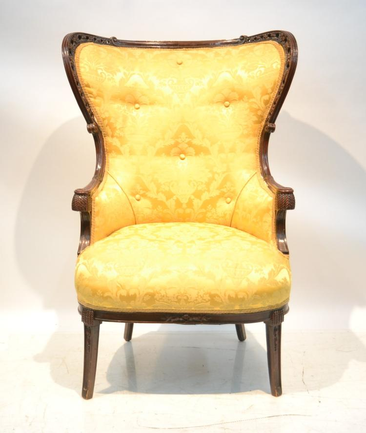 VICTORIAN UPHOLSTERED CHAIR - 27