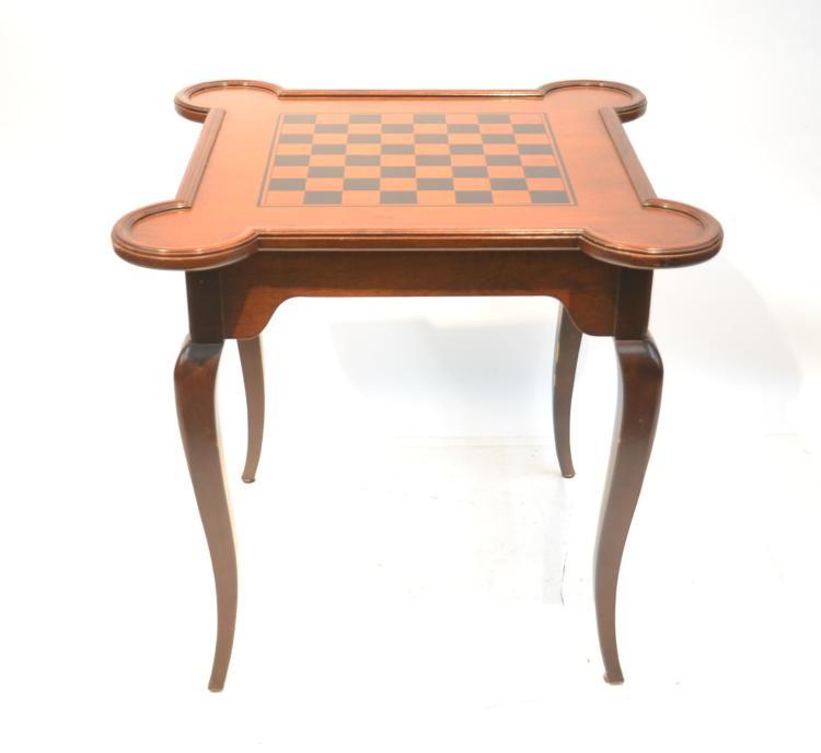 MAHOGANY CHECKER - CHESS TABLE