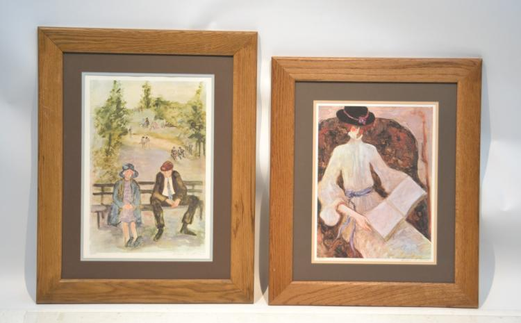 (2) BARBARA A. WOOD (AMERICAN, 20thC) HAND SIGNED