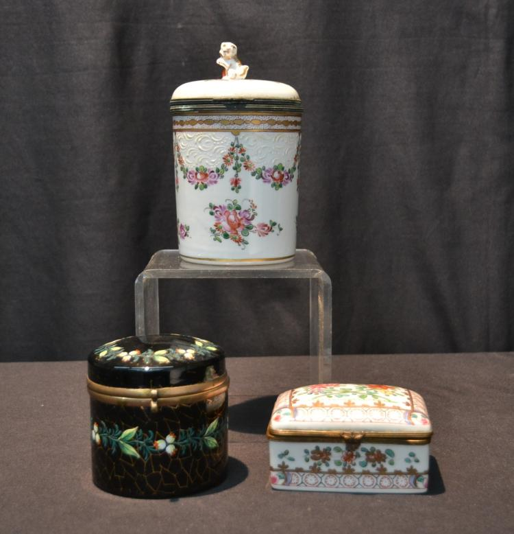 FRENCH PORCELAIN DRESSER BOX , CHINESE EXPORT