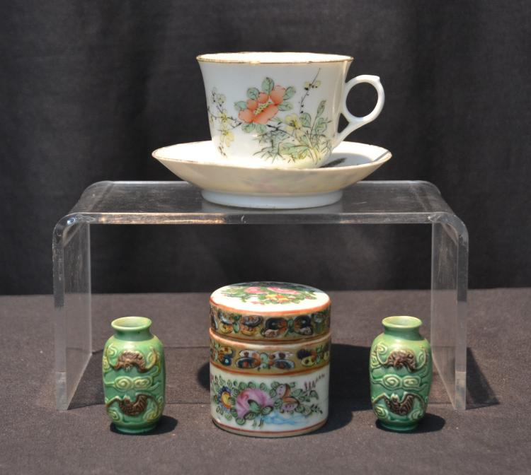 ASIAN PORCELAIN GROUPING INCLUDING