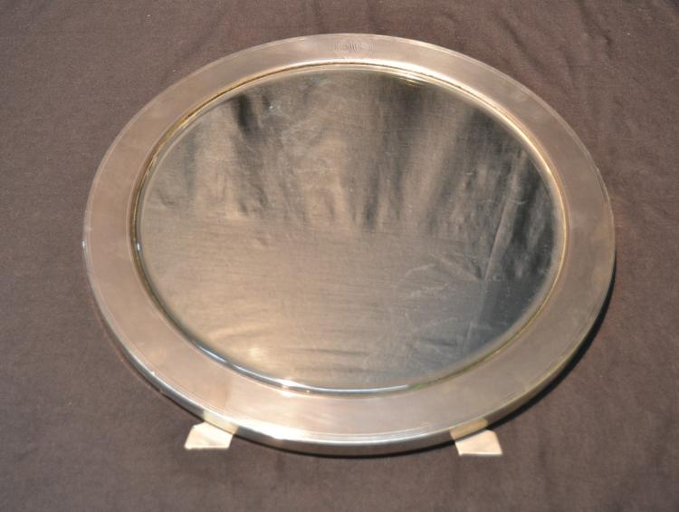 ROUND TIFFANY & Co. MAKERS STERLING EASEL MIRROR