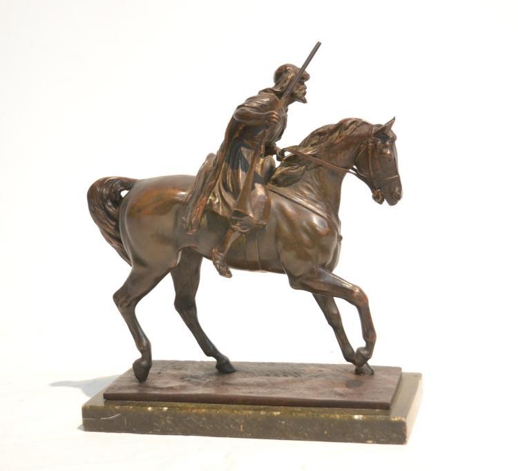 ORIENTALIST BRONZE ARAB ON HORSEBACK