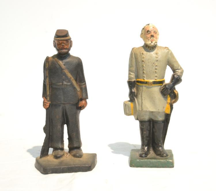 (Pr) CAST IRON CIVIL WAR SOLDIER DOOR STOPPERS