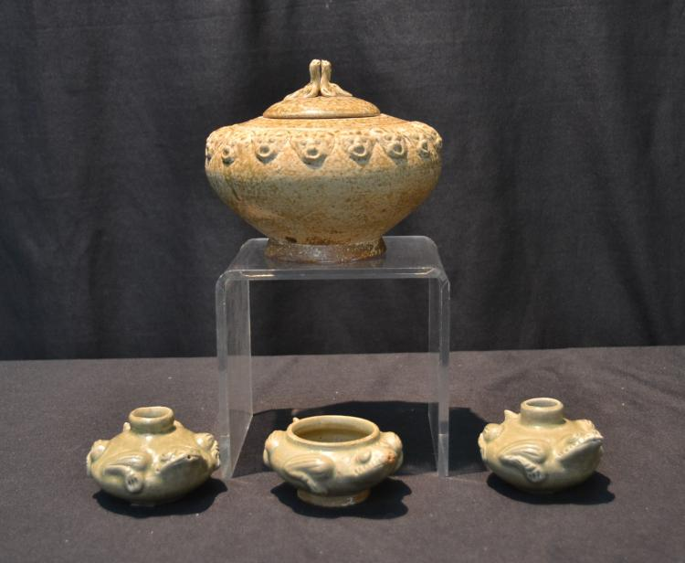 (4) HAN DYNASTY POTTERY TO INCLUDE