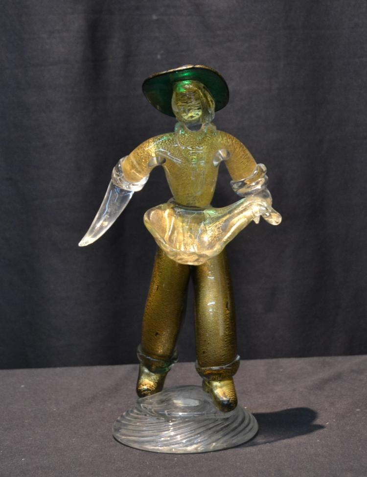 VENETIAN GLASS FIGURE - 5 1/2