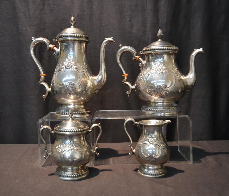 (4) ROGERS STERLING SILVER TEA SERVICE