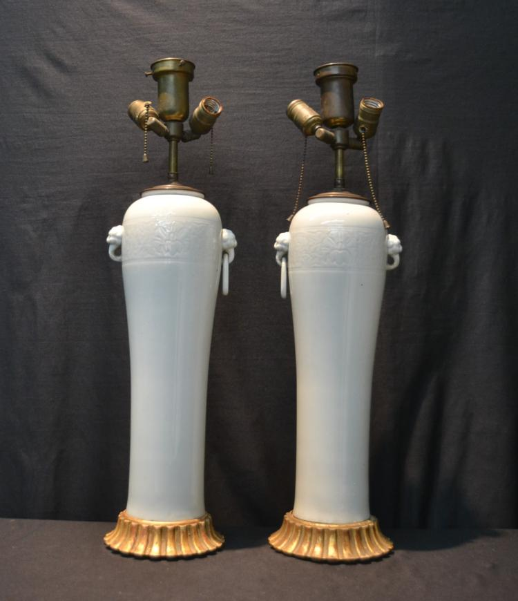 (Pr) JAPANESE PORCELAIN LAMPS WITH
