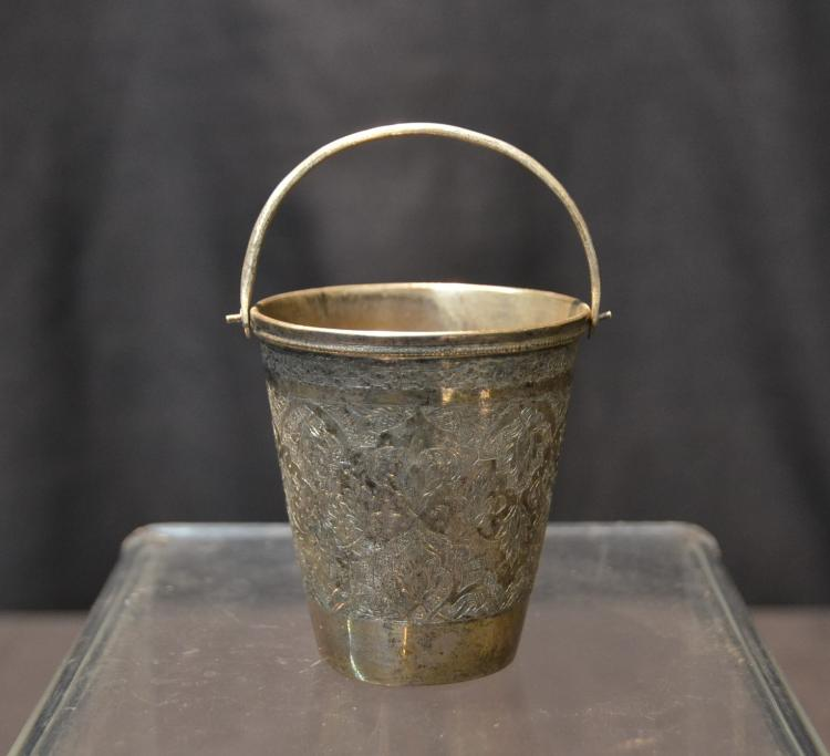 PERSIAN SILVER CUP WITH HANDLE
