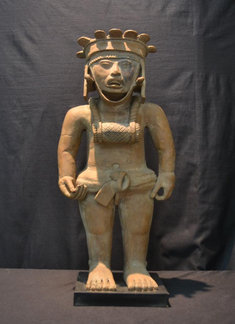 LARGE TERRACOTTA AZTEC ? FIGURE