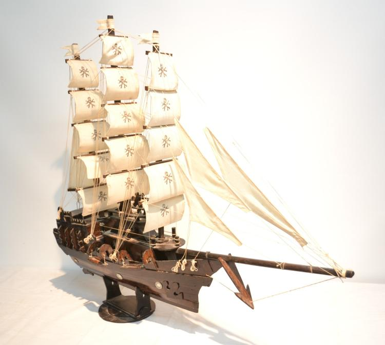 WOODEN PIRATE SHIP MODEL - 41