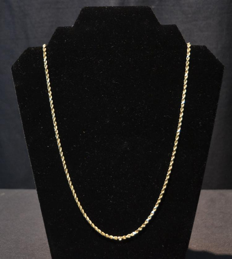 14kt GOLD ROPE CHAIN - 24