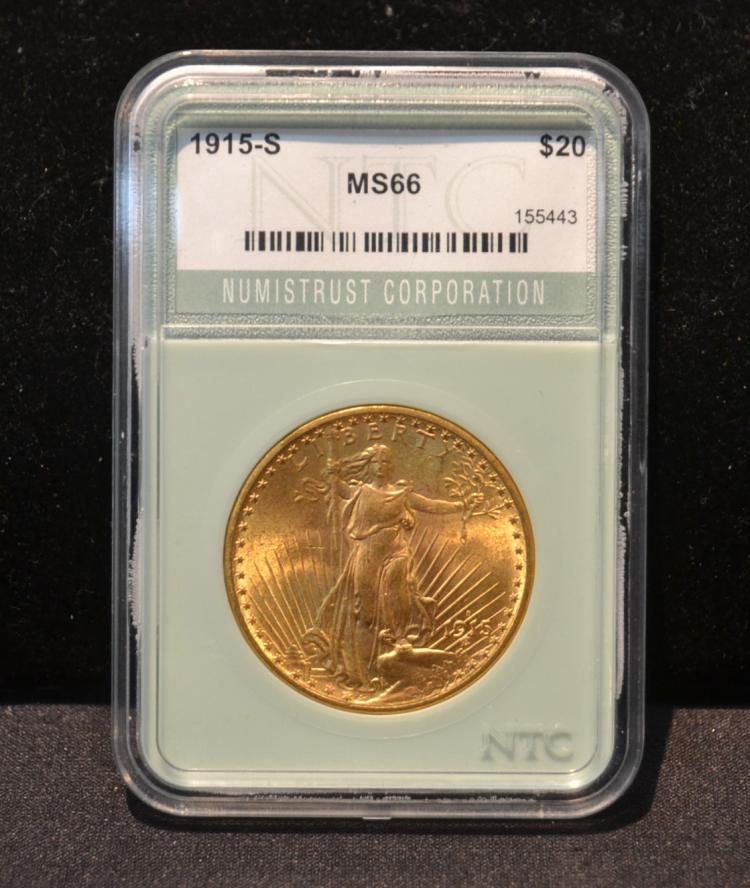 1915 -S $20 GOLD LIBERTY COIN