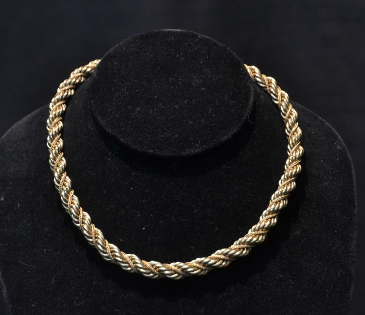 HEAVY 14kt GOLD ROPE CHAIN - 45.8grams ; 15