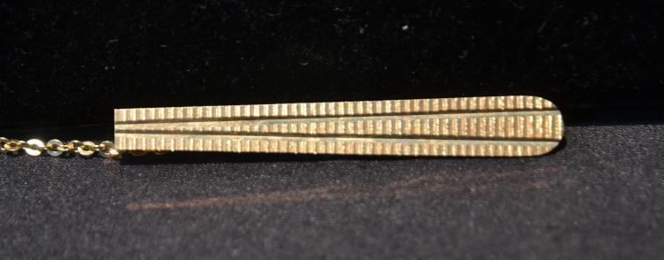 14kt GOLD TIE BAR - 6.6grams ; 2 1/2