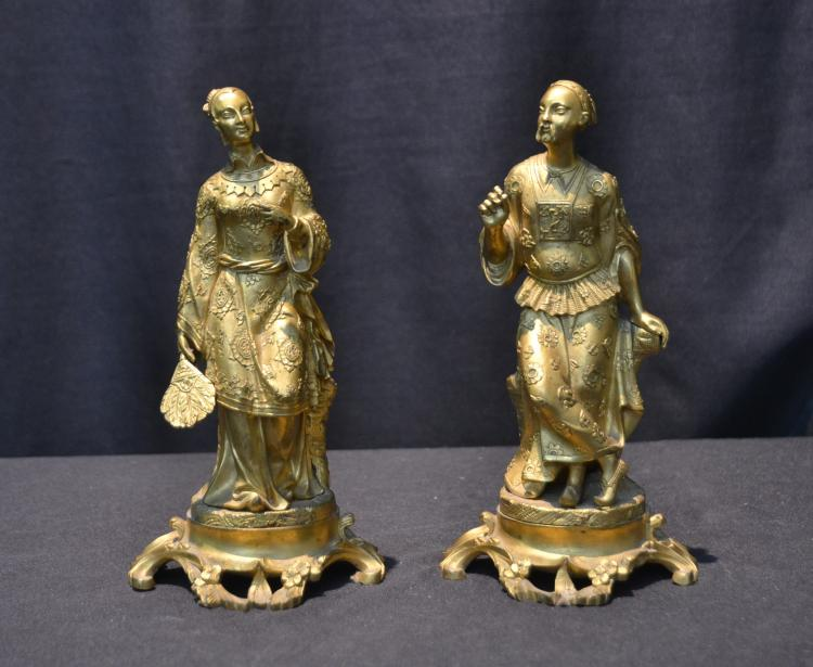 (Pr) FRENCH DORE BRONZE CHINOISERIE FIGURES