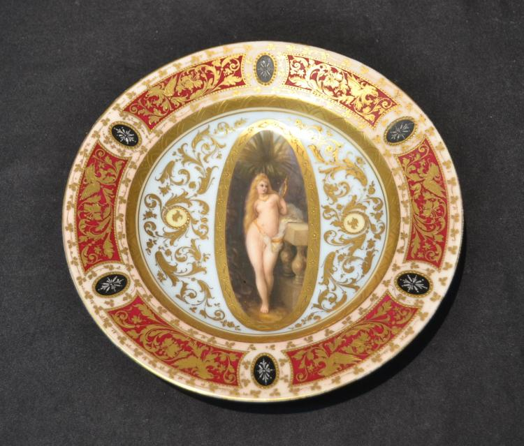 HAND PAINTED ROYAL VIENNA CABINET PLATE