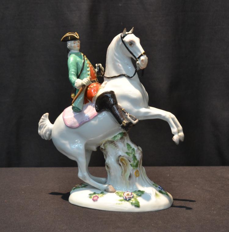 MEISSEN PORCELAIN HUNTSMAN ON HORSEBACK
