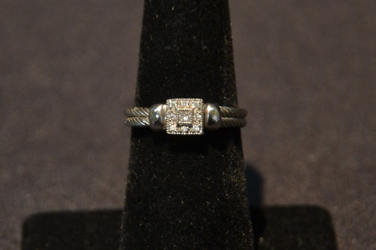 PHILIPPE CHARRIOL, 18kt GOLD & DIAMOND RING