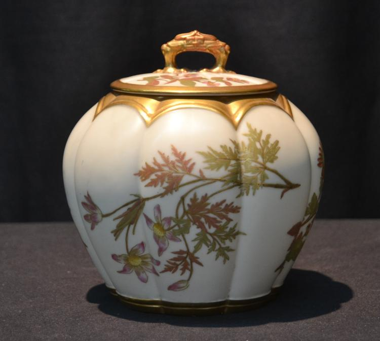 ROYAL WORCESTER CRACKER JAR - 6 1/4
