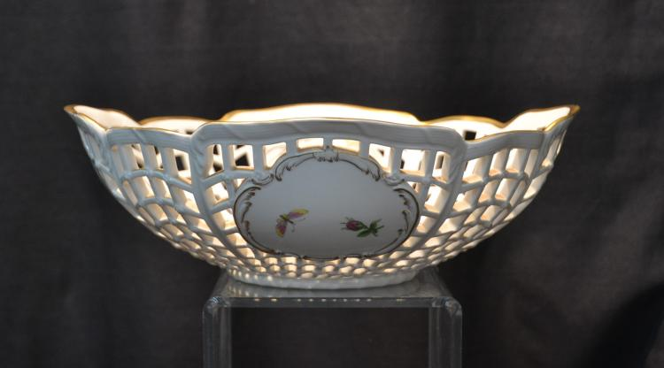 RETICULATED KPM PORCELAIN BOWL WITH