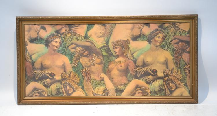 FRAMED CLEOPATRA FIGURAL SILK SCREEN