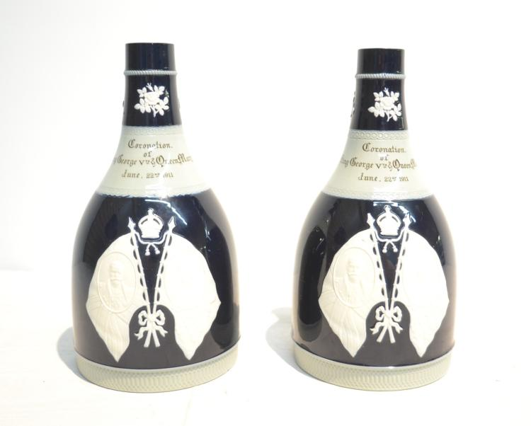 (Pr) COPELAND SPODE CORONATION WHISKEY DECANTERS