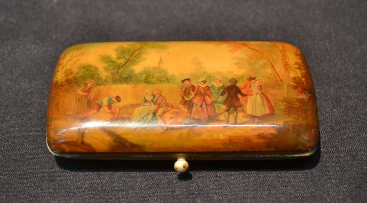 HAND PAINTED NECESSAIRE BOX WITH TRAVEL