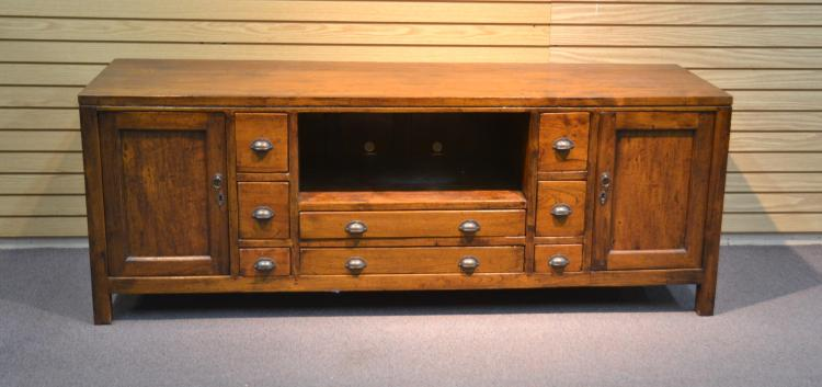 TEAK CABINET WITH DRAWERS & SHELVES