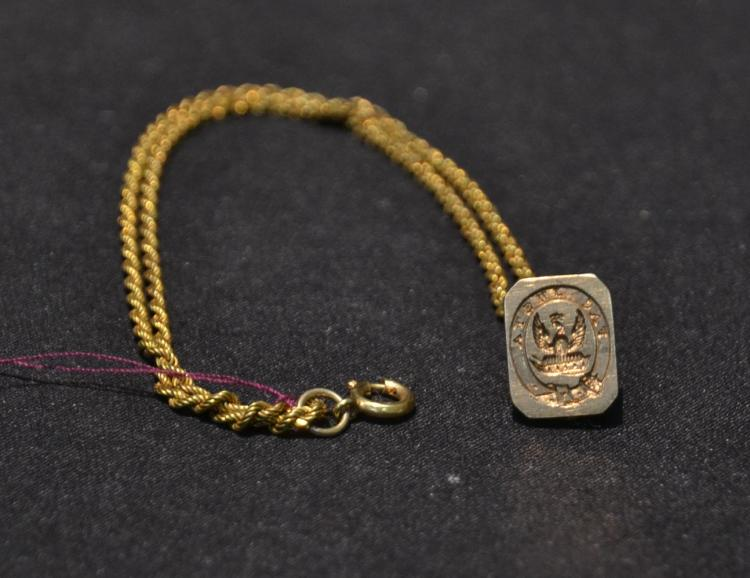 14kt GOLD WATCH FOB - 7