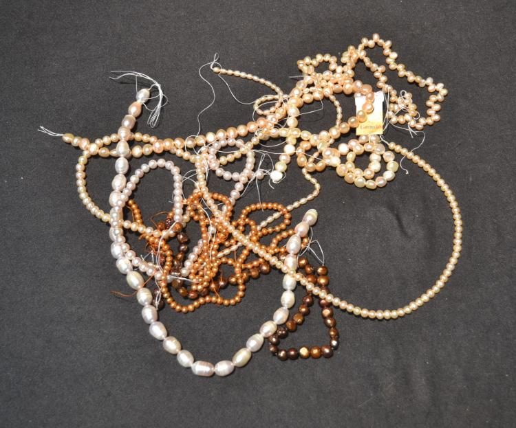 ASSORTED PEARLS & BEADS - 16