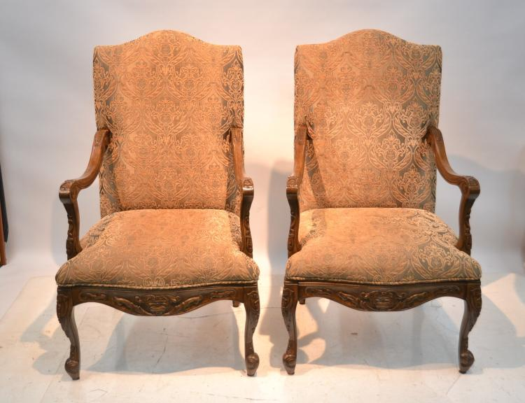 (Pr) UPHOLSTERED ARM CHAIRS - 27