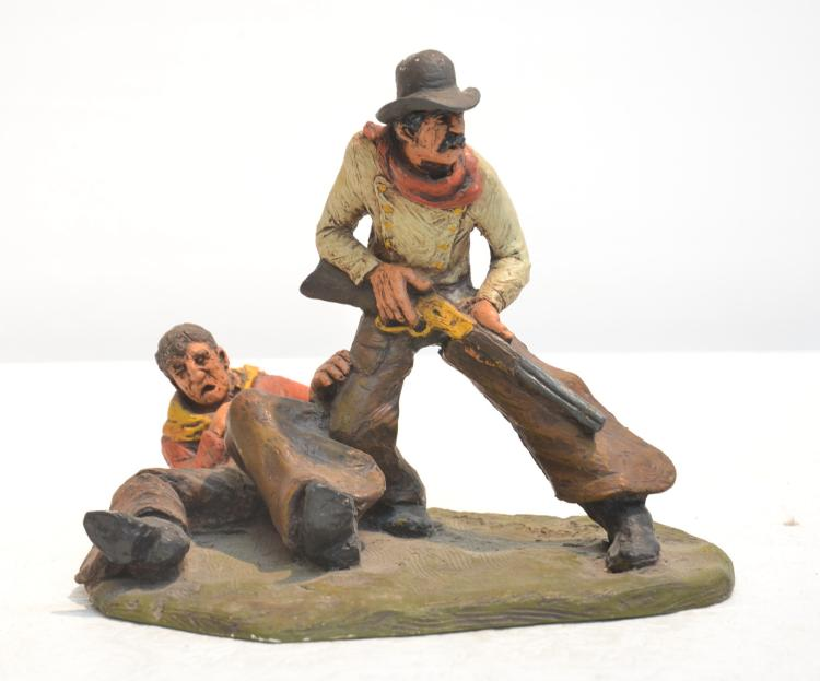 MICHAEL GARMAN SCULPTURE OF COWBOYS