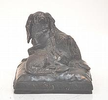 AFTER CHARLES VALTON (FRENCH , 1851-1918) BRONZE