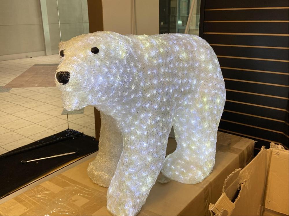 Large 3pc, Light Up Polar Bear Family Display
