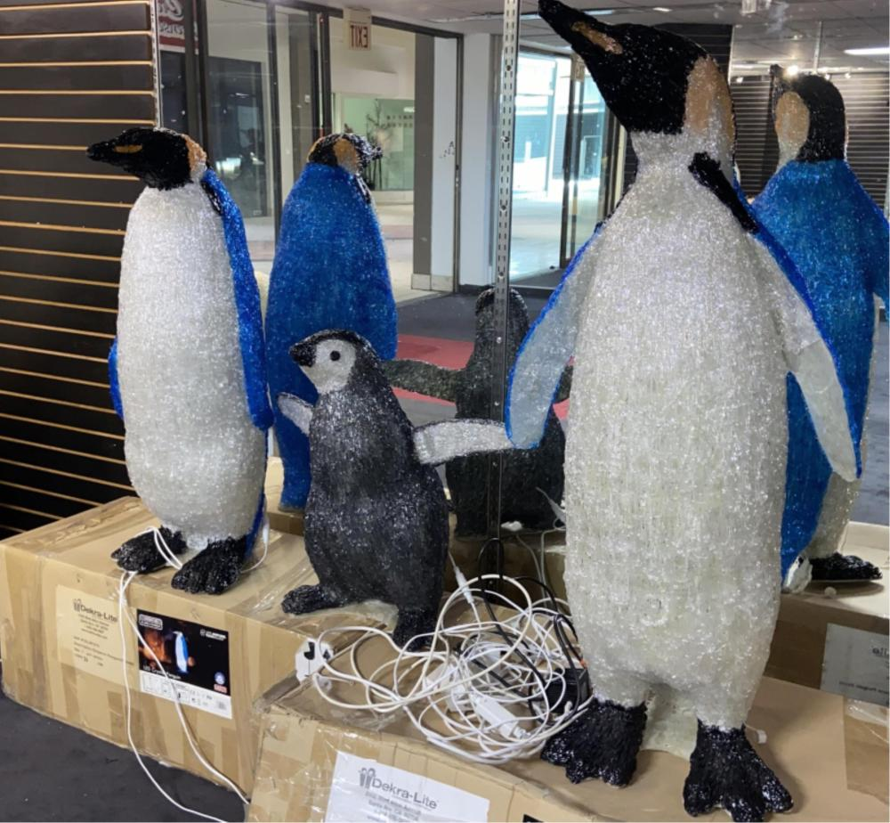3pc. Large Light Up Penguin Family Display