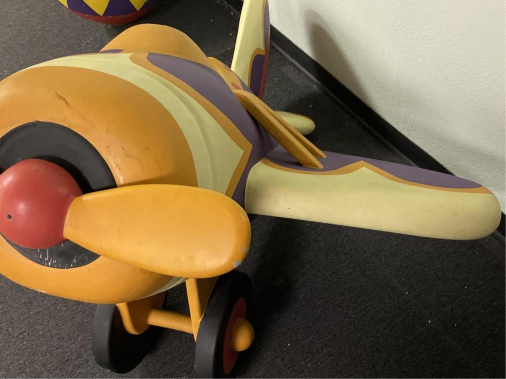 Large Toy Airplane Foam Xmas Decoration