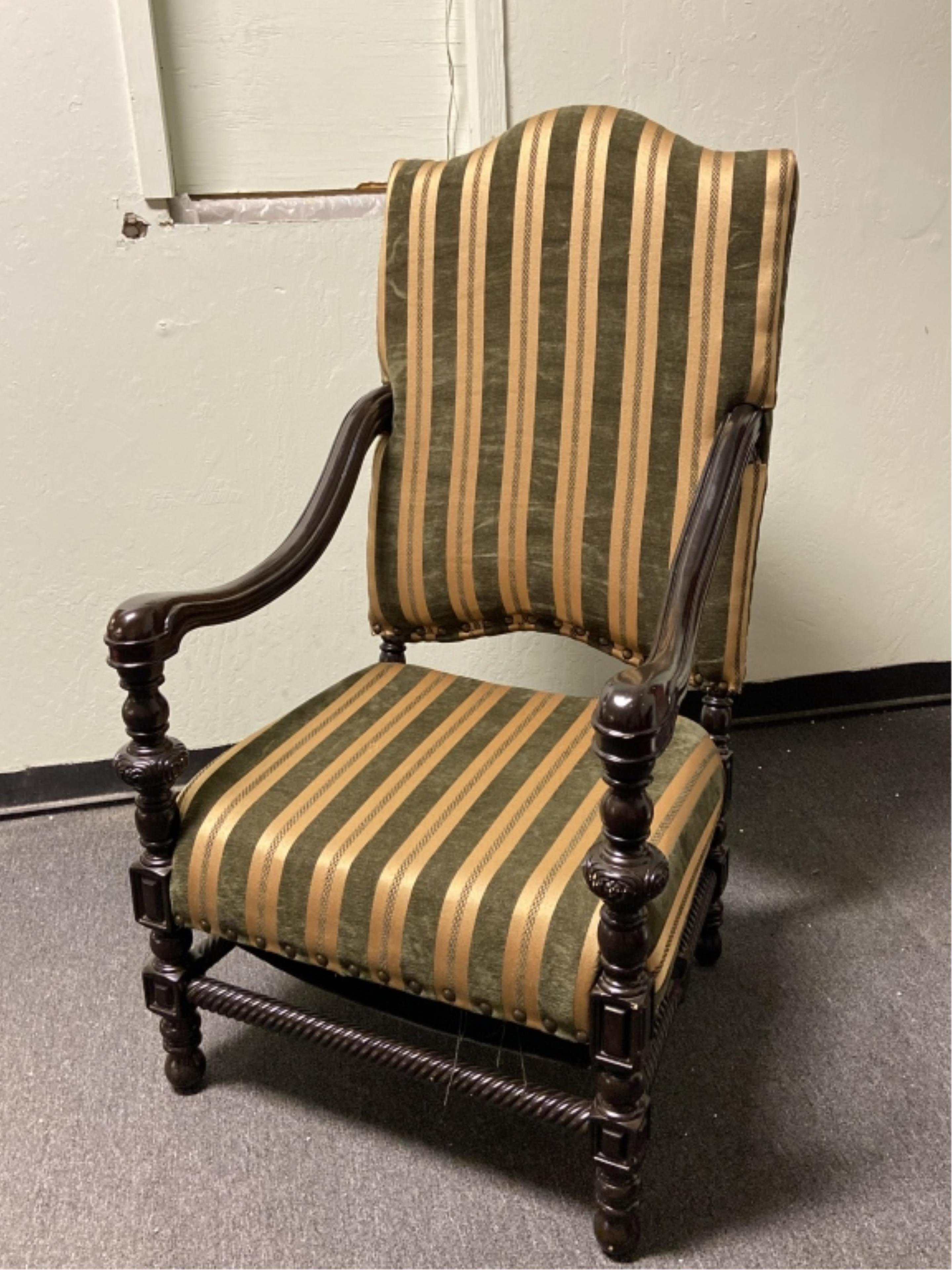 Oversized Riveted Arm Chair