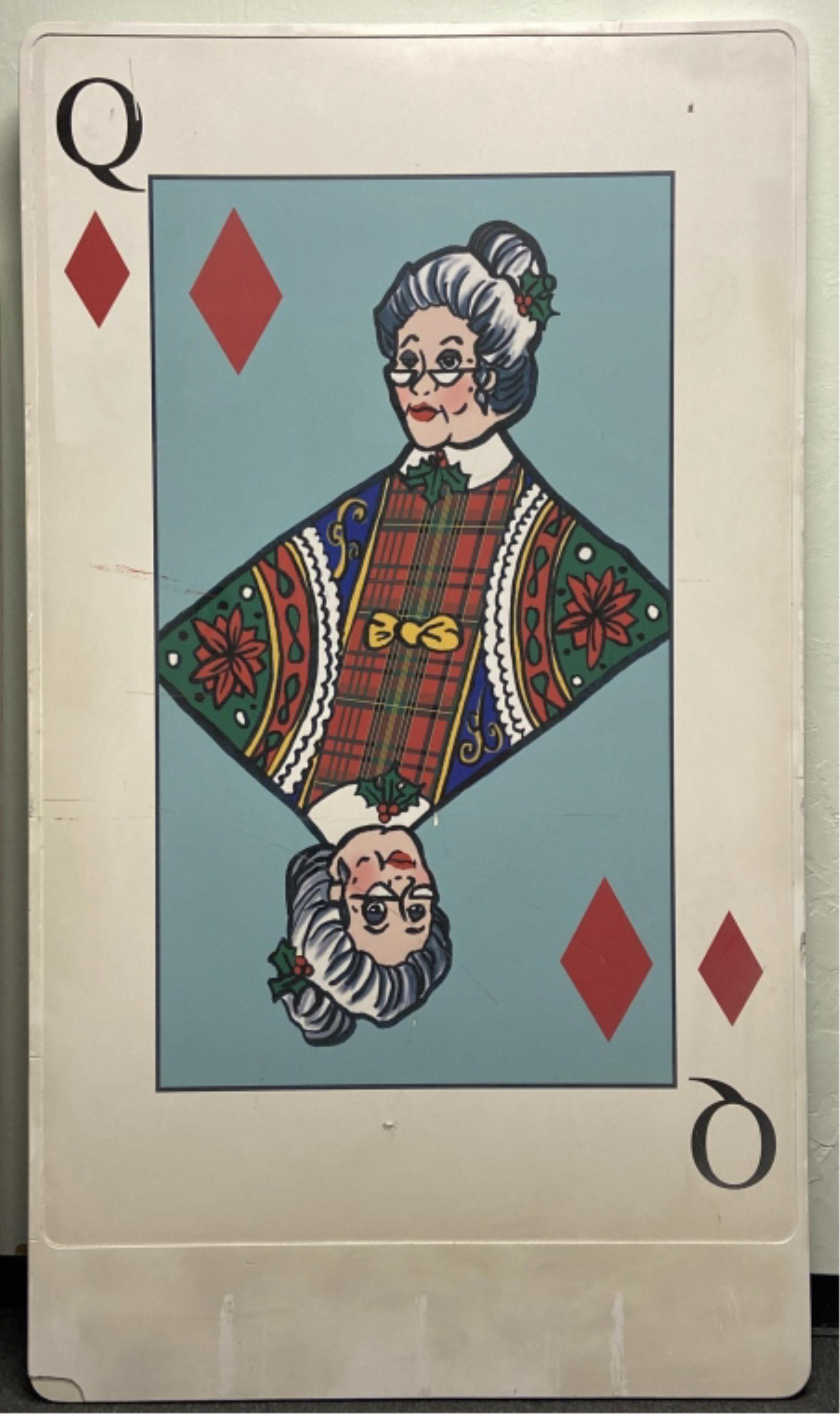 Huge Oversized Christmas Decor Playing Card