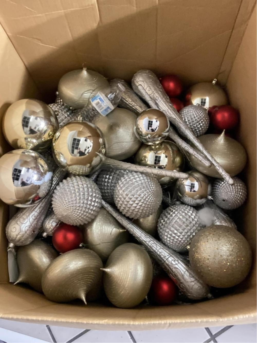 Huge Assortment Of Oversized And Regular Ornaments