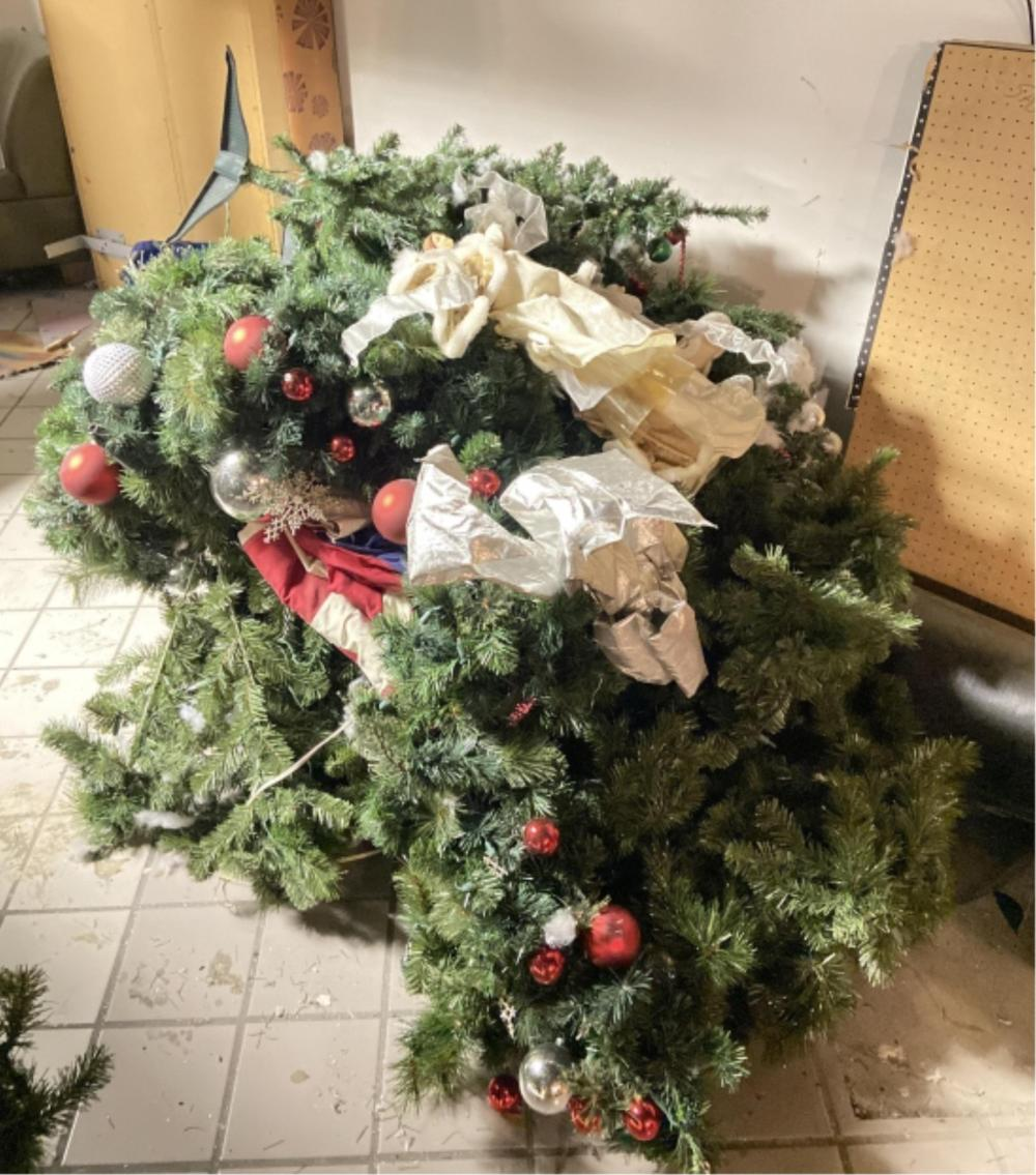 Large Assortment Of Garland, Mini Xmas Trees