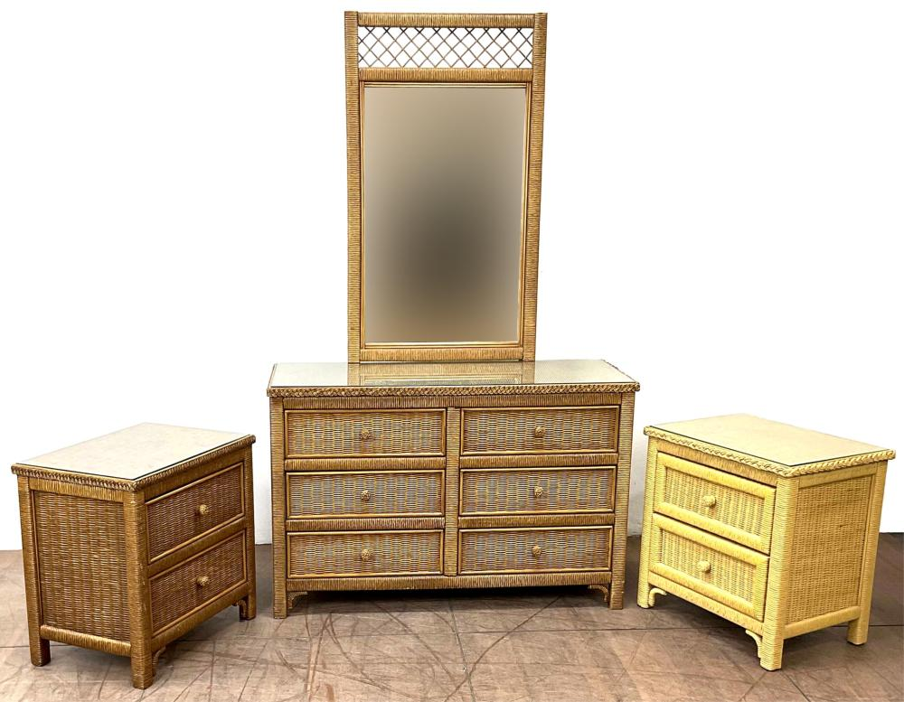 (3pc) Henry Link Wicker Furniture Group