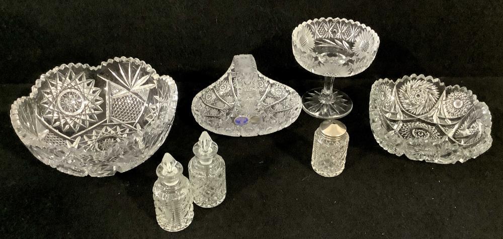 (6pc) Glass Servingware, Bohemia